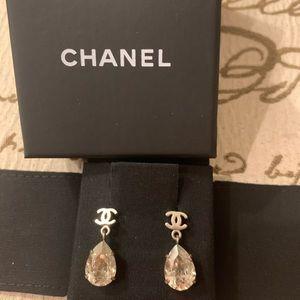 Authentic Chanel tear drop earring